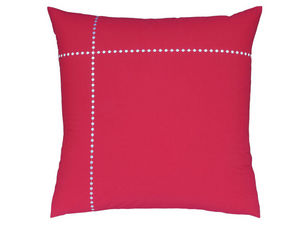 BLANC CERISE - taie d'oreiller carrée - percale (80 fils/cm²)- b - Taie D'oreiller