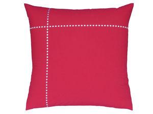 BLANC CERISE - taie d'oreiller carr�e - percale (80 fils/cm�)- b - Taie D'oreiller