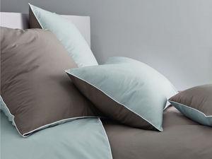 BLANC CERISE - housse de couette - percale (80 fils/cm²) - gris p - Housse De Couette