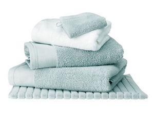 BLANC CERISE - serviette de toilette céladon - coton peigné 600  - Serviette De Toilette