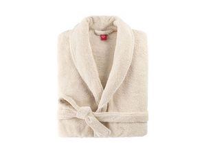 BLANC CERISE - peignoir col ch�le - coton peign� 450 g/m� ficell - Peignoir De Bain