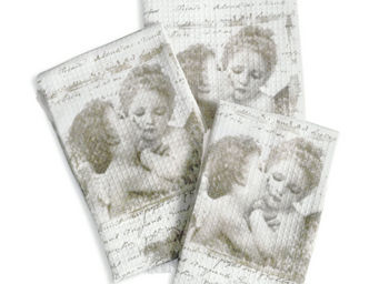 Mathilde M - serviette invité anges amoureux - Serviette De Toilette