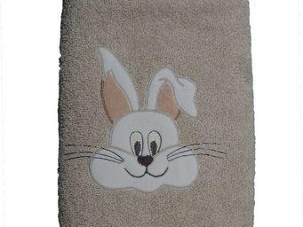 SIRETEX - SENSEI - serviette 50x90cm en forme de lapin - Serviette De Toilette Enfant