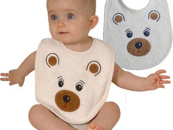 SIRETEX - SENSEI - bavoir bébé en forme d'ours - Bavoir