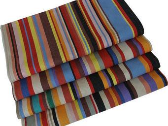 Les Toiles Du Soleil - serviette de table tom multicolore - Serviette De Table