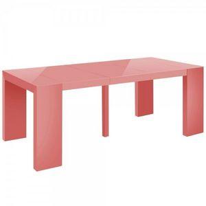 WHITE LABEL - table console extensible 3 rallonges shannon - Table De Repas Rectangulaire