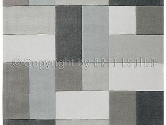Arte Espina - tapis de chambre reflective 4 gris 120x180 en acry - Tapis Contemporain