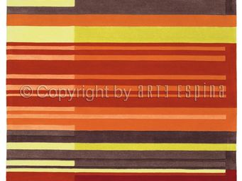 Arte Espina - tapis de salon colour codes rouge 140x200 en acryl - Tapis Contemporain