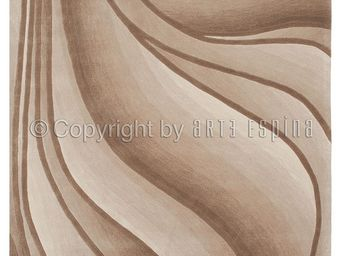 Arte Espina - tapis de salon in motion beige 140x200 en acryliqu - Tapis Contemporain