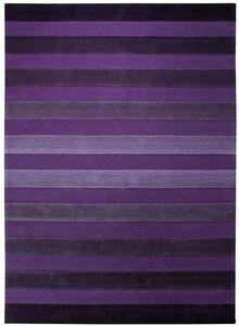ESPRIT - tapis de chambre cross walk violet 90x160 en acryl - Tapis Contemporain