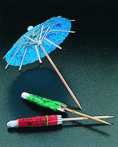 WHITE LABEL - lot de 12 ombrelles de décoration party line - Marque Verre