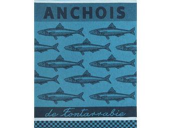 Jean Vier - arnaga anchois - Torchon