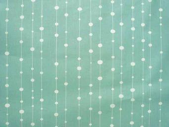 FLEUR DE SOLEIL - tissu perles bleues 160x160 - Tissu D'ameublement