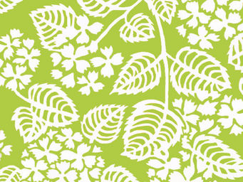 FLEUR DE SOLEIL - tissu hortensia vert 160x160 - Tissu D'ameublement