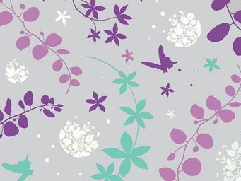 FLEUR DE SOLEIL - tissu volubilis violet 160x160 - Tissu D'ameublement