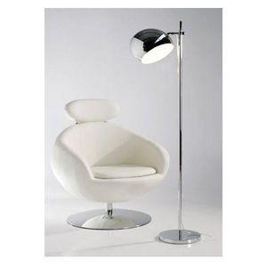 KOKOON DESIGN - lampe lampadaire abat jour chromé cyclop - Lampadaire