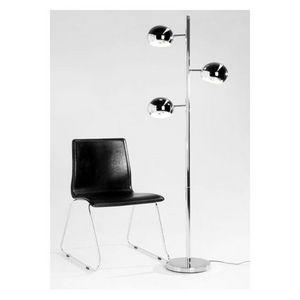 KOKOON DESIGN - lampe lampadaire trois globes chromés trya - Lampadaire
