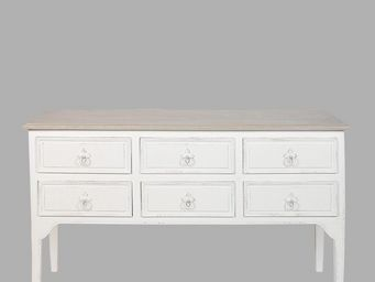 BLANC D'IVOIRE - charlie gm blanc patin� - Commode