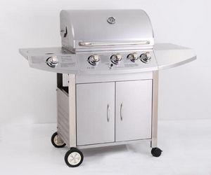 PRIMAGAZ - barbecue à gaz 5 feux diamant en inox 150x60x119cm - Barbecue Au Gaz