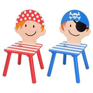 La Chaise Longue - chaises pirates pour enfant 29x29x58,5cm (par 2) - Chaise Enfant