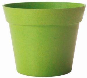 MARC VERDE - pot déco vert en bambou et résine 19x17cm - Cache Pot
