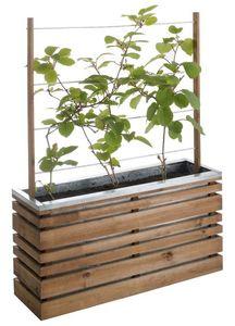 JARDIPOLYS - bac à fleurs 110 litres ligne z avec treillis 100x - Jardinière