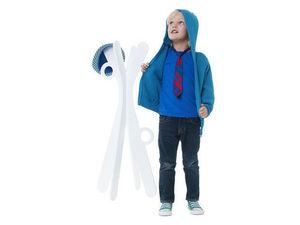 J.I.P Junior In Progress - porte-manteaux design tof en bois blanc 45x100cm - Porte Manteau Enfant