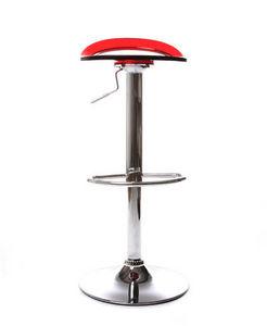 KOKOON DESIGN - tabouret de bar rouge button 37x37x58-78cm rouge - Tabouret De Bar