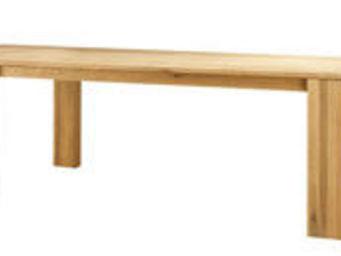 ZAGO - table côme en chêne massif avec allonge 210x90x76c - Table De Repas Rectangulaire