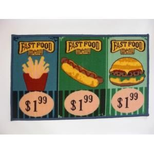 ILIAS - tapis de cuisine fast food 50 x 80 cm - Tapis D'évier