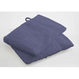 TODAY - lot de 2 gants de toilette - couleur - bleu - Serviette De Toilette