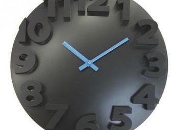 Cm - horloge relief - couleur - bleu - Horloge Murale