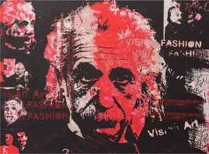 KOKOON DESIGN - toile peinte einstein vision fashion structure boi - Tableau Décoratif