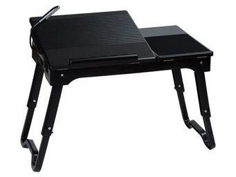 La Chaise Longue - table d'ordinateur portable multifonctions noir - Bureau Enfant