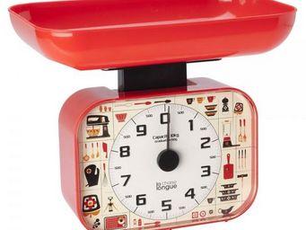 La Chaise Longue - balance cuisine 70's rouge - Balance De Cuisine Mécanique
