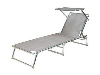 La Chaise Longue - lit de plage parasol argent - Bain De Soleil