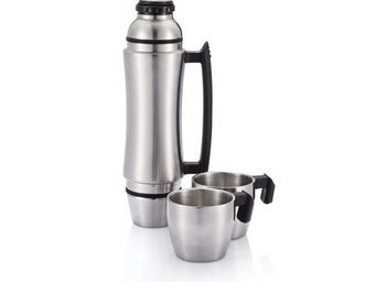 XD Design - bouteille isotherme avec poign�e wave grip inox - Bouteille Isotherme