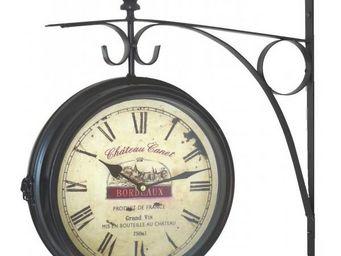 L'HERITIER DU TEMPS - pendule de gare brocante 28cm - Horloge Murale