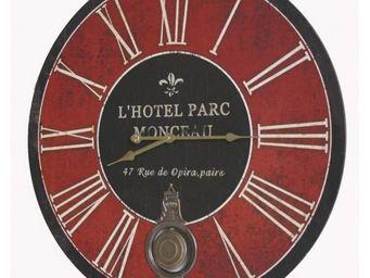 L'HERITIER DU TEMPS - horloge bois parc monceau ø58cm - Horloge Murale