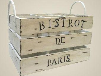L'HERITIER DU TEMPS - casier à bouteilles blanchi - Casier De Rangement