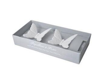 Mathilde M - ambiance parfumée - coffret 2 papillons en biscuit - Céramique Parfumée