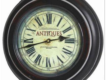 L'HERITIER DU TEMPS - pendule hublot fer patiné noir ø33cm - Horloge Murale