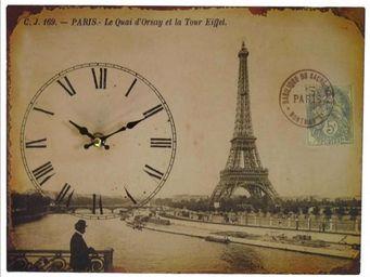 L'HERITIER DU TEMPS - pendule carte postale paris - Horloge Murale