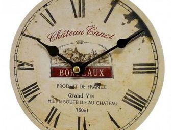 L'HERITIER DU TEMPS - mini horloge style industriel bois 16,5cm - Horloge Murale