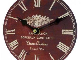 L'HERITIER DU TEMPS - horloge château bordeaux ø16.5cm - Horloge Murale