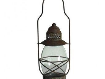 L'HERITIER DU TEMPS - lampion à bougies en fer - Lanterne D'extérieur