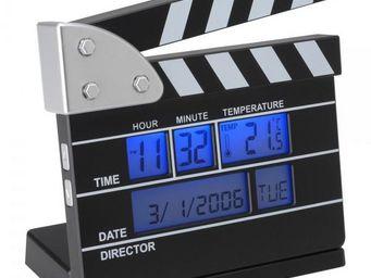 La Chaise Longue - réveil thermomètre clap de cinéma - Réveil Matin