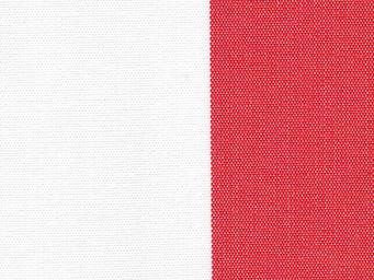 Le Quartier des Tissus - toile de bache rayee rouge bain de soleil - Tissu D'extérieur
