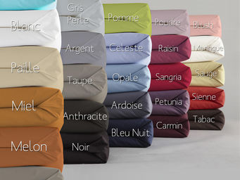 Essix home collection - essix percale coton drap plat - Drap De Lit