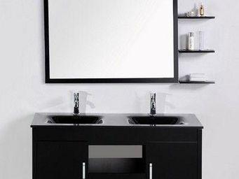 UsiRama.com - meuble salle de bain double vasque 120cm - Meuble Double Vasque